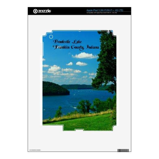 Lago Brookville, el condado de Franklin Indiana iPad 3 Pegatinas Skins