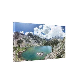 Lago cabin - desierto de Ansel Adams - California Impresión En Lienzo