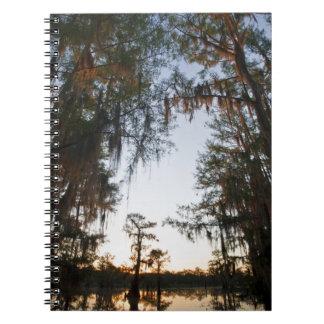 Lago Caddo en la salida del sol Libros De Apuntes Con Espiral