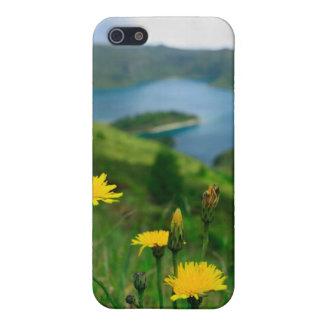 Lago caldera en las islas de Azores iPhone 5 Fundas