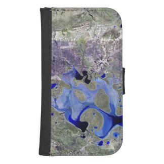 Lago Carnegie Landsat 7 Cartera Para Teléfono
