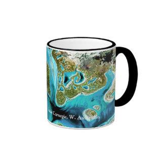 Lago Carnegie, W. Australia paintbrush de dioses Tazas De Café