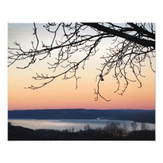 Lago Cayuga en la puesta del sol Fotografías
