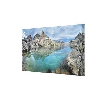 Lago Cecile/alminares - desierto de Ansel Adams Impresión En Lienzo
