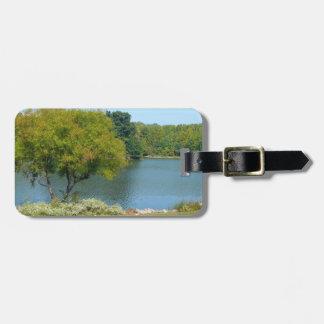 Lago centenario en la ciudad Maryland de Ellicott Etiqueta Para Equipaje