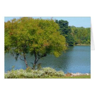 Lago centenario en la ciudad Maryland de Ellicott Tarjeta De Felicitación