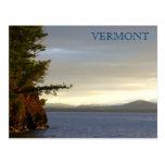 Lago Champlain de las granjas de Shelburn, VT Tarjeta Postal