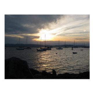 Lago Champlain en la puesta del sol Postal