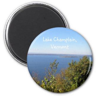 Lago Champlain, Vermont Imán Redondo 5 Cm