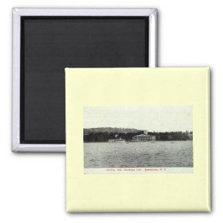 Lago Chautauqua, vintage 1909 de Jamestown NY Imán Cuadrado