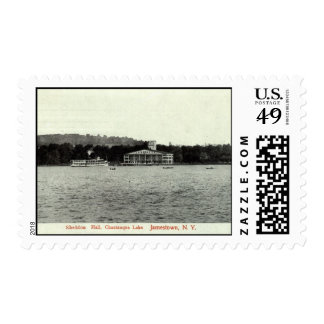 Lago Chautauqua, vintage 1909 de Jamestown NY Sello