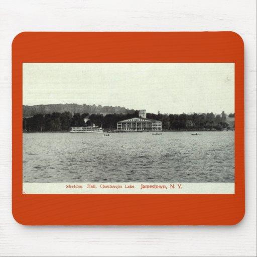 Lago Chautauqua, vintage 1909 de Jamestown NY Tapete De Ratones