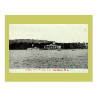 Lago Chautauqua, vintage 1909 de Jamestown NY Postal