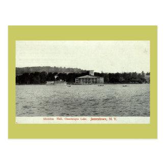 Lago Chautauqua, vintage 1909 de Jamestown NY Tarjetas Postales
