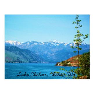 Lago Chelan Tarjeta Postal