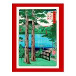 lago Chuzenji del 歌川広重, Utagawa Hiroshige Tarjeta Postal