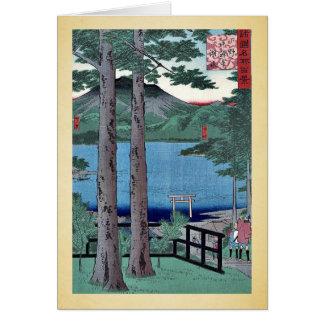 Lago Chuzenji por Utagawa, Hiroshige Tarjeta De Felicitación