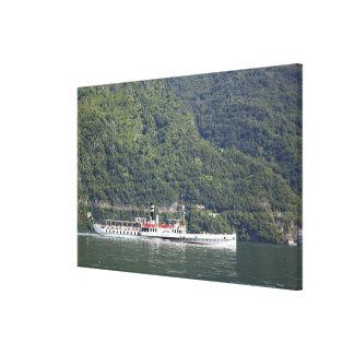 Lago Como, transbordador Impresión De Lienzo