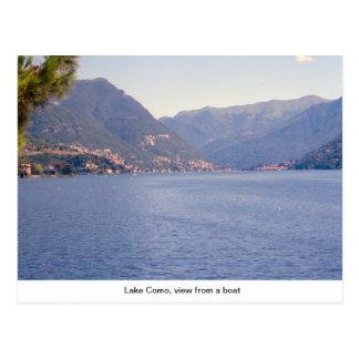 Lago Como, visión desde un barco Tarjetas Postales