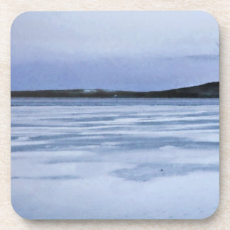 Lago congelado posavaso