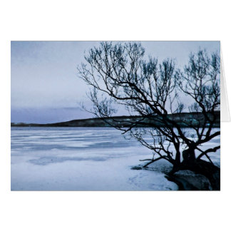Lago congelado tarjeta de felicitación