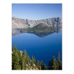 Lago crater e isla del mago tarjetas postales