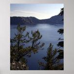 Lago crater, Oregon, los E.E.U.U. Poster