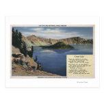 Lago crater, Oregon - observación Tarjetas Postales