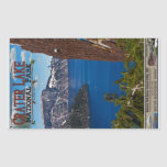 Lago crater - poster informativo rectangular pegatina