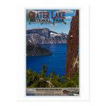 Lago crater - poster informativo postales