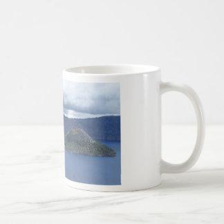 Lago crater taza de café