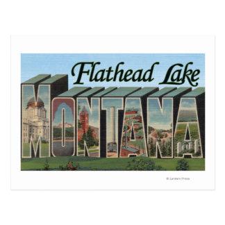 Lago de cabeza llana, Montana - escenas grandes de Postales