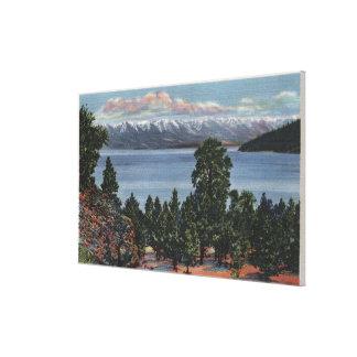 Lago de cabeza llana, Montana Impresión En Lienzo