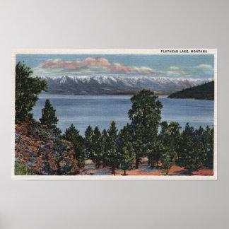 Lago de cabeza llana, Montana Póster