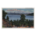 Lago de cabeza llana, Montana Posters