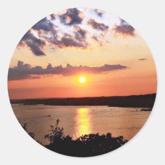 Lago de los pegatinas de Ozarks Pegatina Redonda