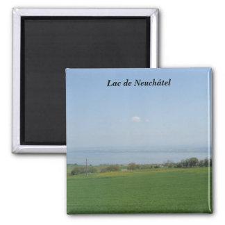 Lago de Neuch�tel - Imán Cuadrado