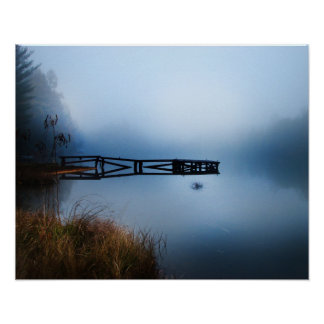 Lago de niebla póster