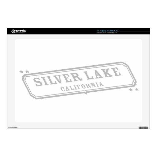 Lago de plata 43,2cm portátil calcomanía