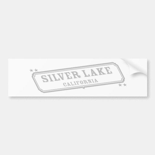Lago de plata pegatina de parachoque