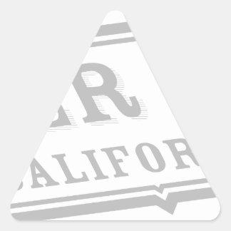 Lago de plata pegatina triangular