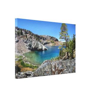 Lago de rubíes - rastro de John Muir - Sierra Impresión En Lienzo