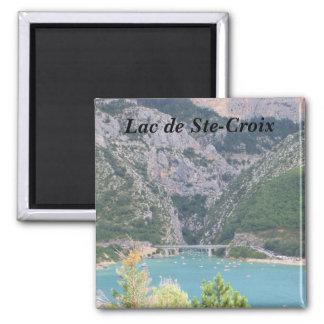 Lago de St-Cruz - Imán Cuadrado
