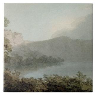 Lago de Vico entre Roma y Florencia, 1783 (grap Azulejo Cuadrado Grande