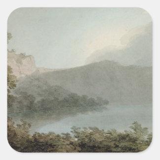 Lago de Vico entre Roma y Florencia, 1783 (grap Pegatina Cuadrada