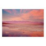 Lago Death Valley water Impresiones En Madera