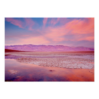 Lago Death Valley water Poster