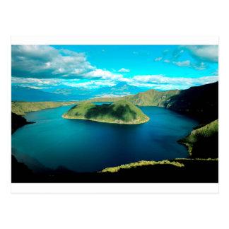 Lago del cráter del volcán del paraíso postales