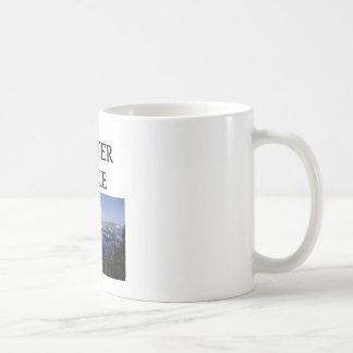 lago del cráter taza de café