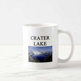 lago del cráter tazas de café